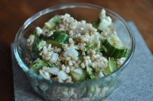 Barley Cucumber Salad