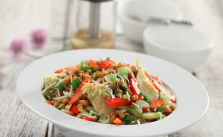 Asiago artichoke lentil salad