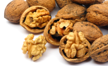 Cracked walnut cores