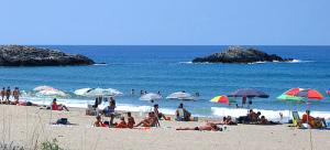 Beach umbrella_cliento foto