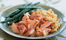 Salmon_sake with quinoa_Cooking Light