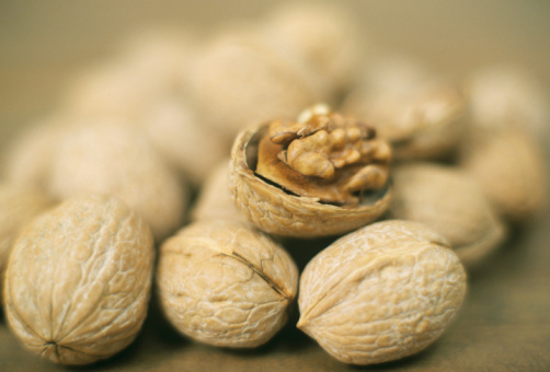 Walnuts, close-up