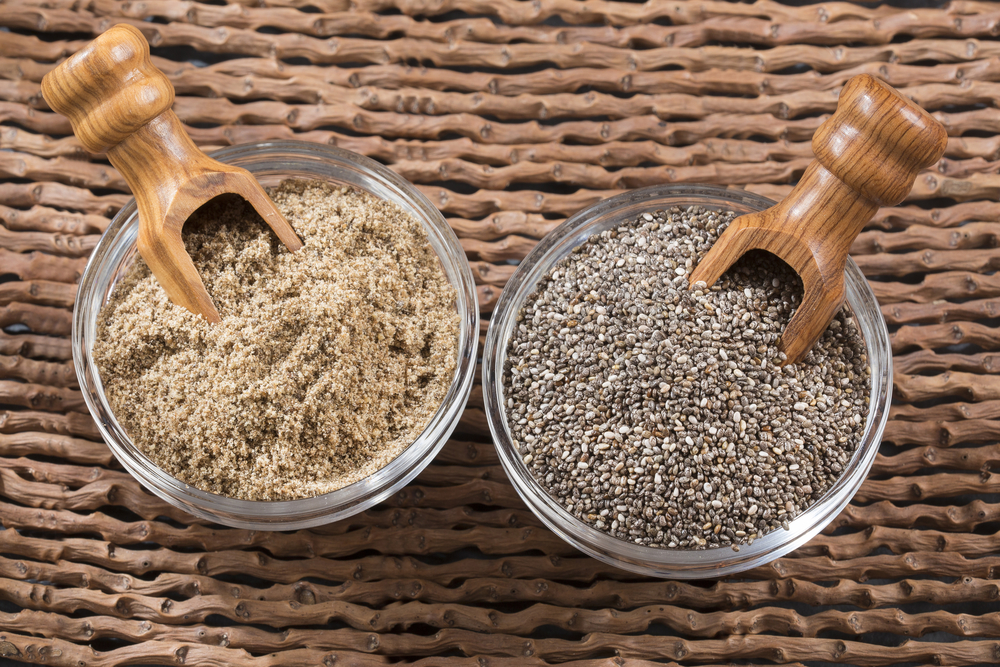 Chia seeds - ground and whole