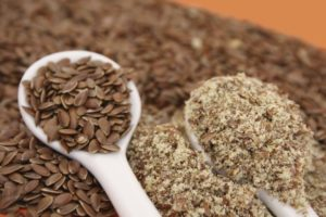 Ground and whole flax seeds -By Doug Cook RD
