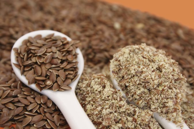 Ground and whole flax seeds