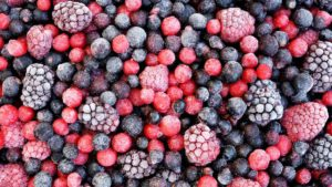 Mixed frozen strawberries blueberries raspberries - by Doug Cook RD