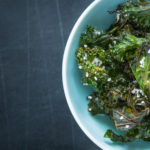 Kale chips with salt