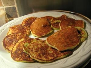 Zucchini flax pancakes