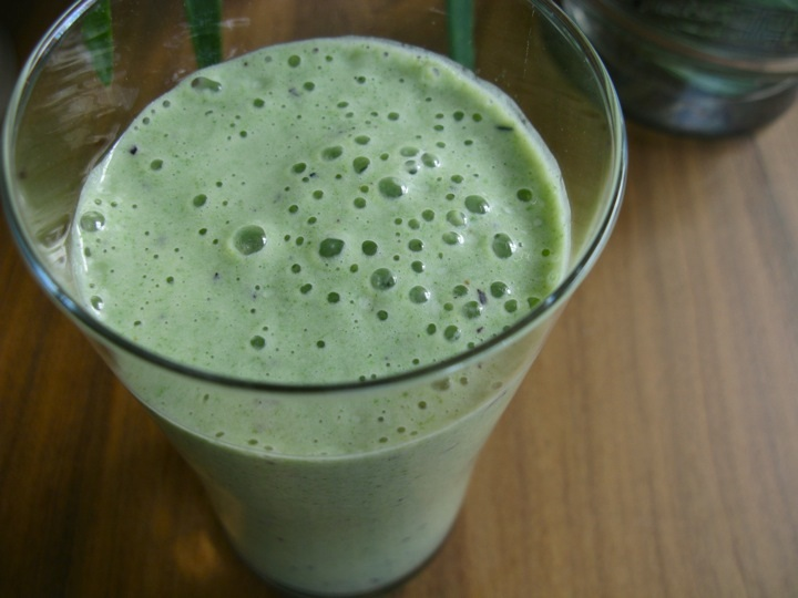 Avocado spinach protein shake