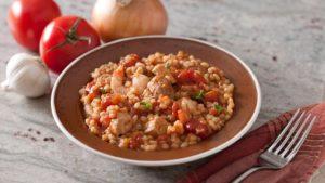 A dish of barley jambalaya