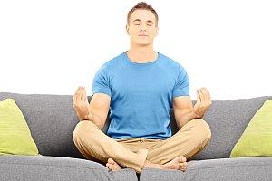 Meditation on sofa