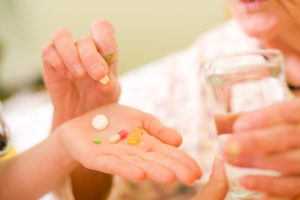 A hand with medications