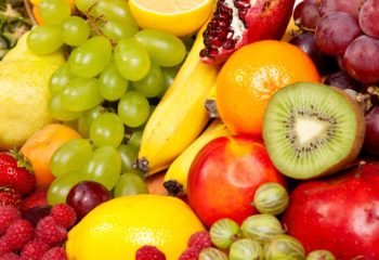 grapes mixed fruit kiwi lemon