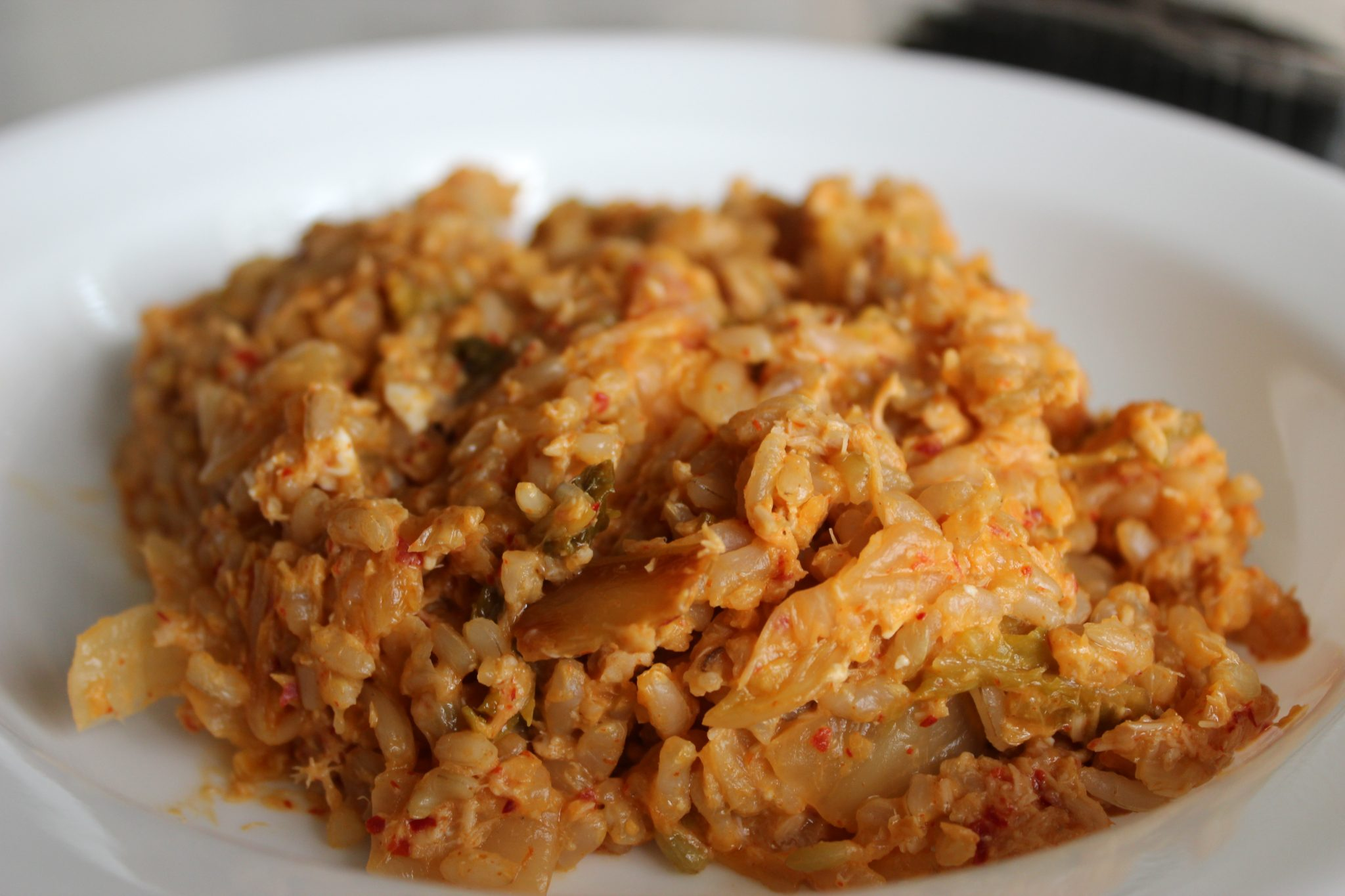 Plate of kimchi fried rice