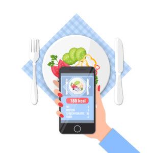 Food tracker app using a phone