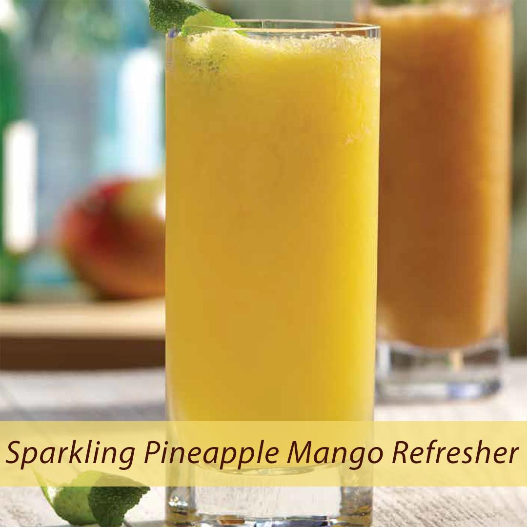 Sparkling Pineapple Mango Refresher 1 - Sparkling Pineapple Mango Refresher