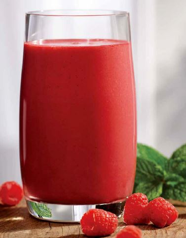 Beet and raspberry protein shake