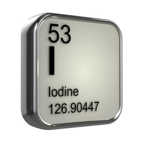 Iodine including molecular weight and atomic number