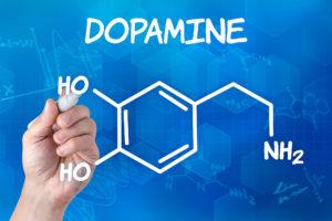 A molecule of dopamine