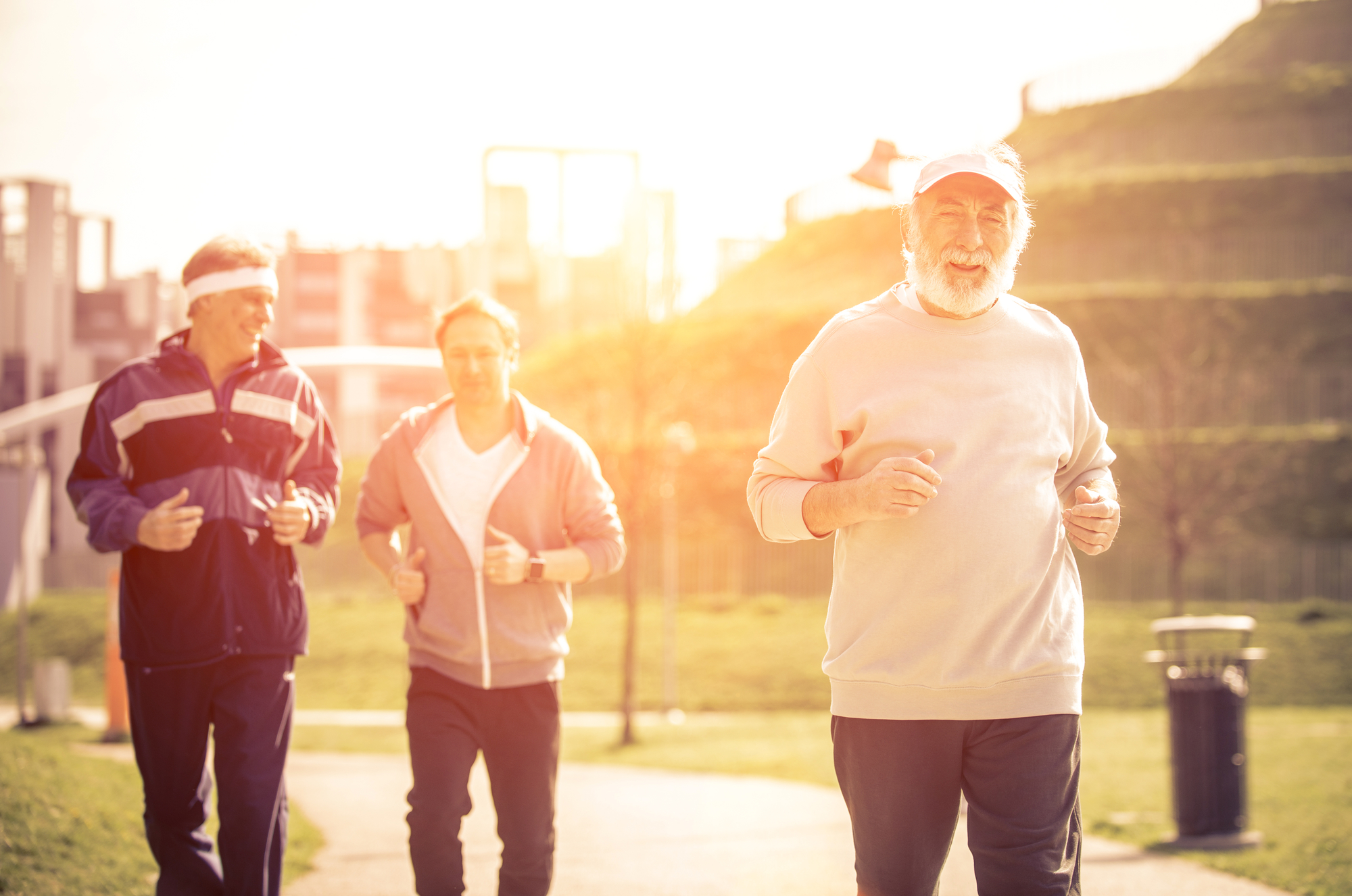 A group of senior men jogging - By Doug Cook RD