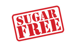 A sign reading sugar free