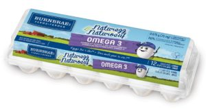 Carton of omega 3 eggs