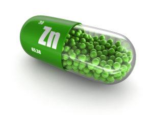 A capsule of zinc
