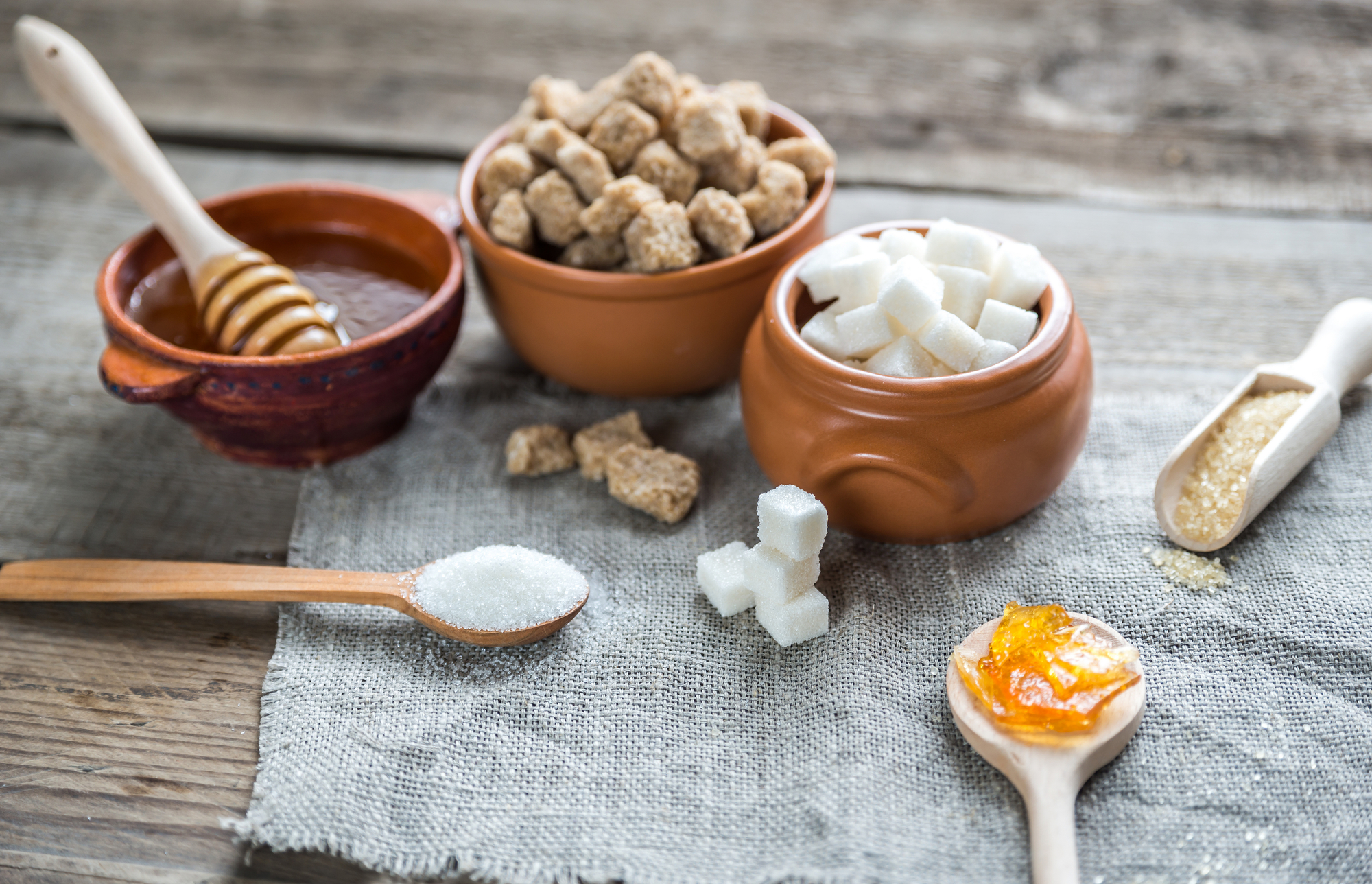 Sugar in different forms and types - 9 Symptoms Of Candida Overgrowth
