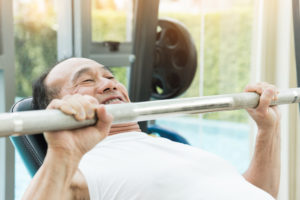 Weight lifting older man bench press 300x200 - Why We Should All Be Lifting Weights
