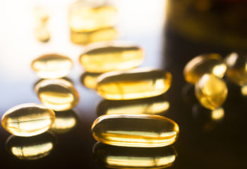 Fish oil capsules supplement