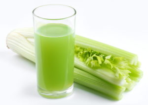 Celery juice in a glass