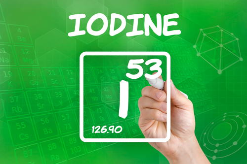 Symbol for the chemical element iodine - by Doug Cook RD
