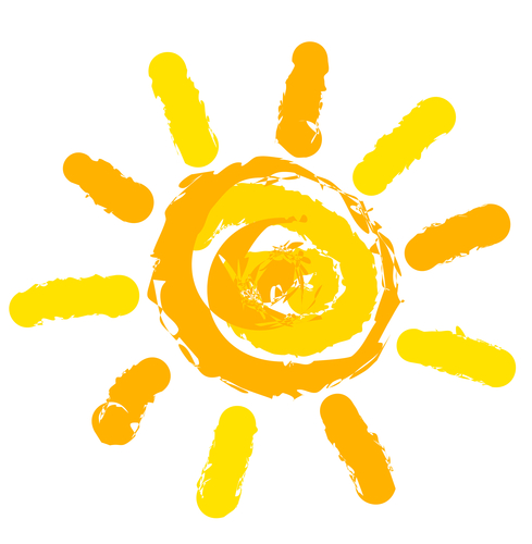 Sun symbol illustration - by Doug Cook RD