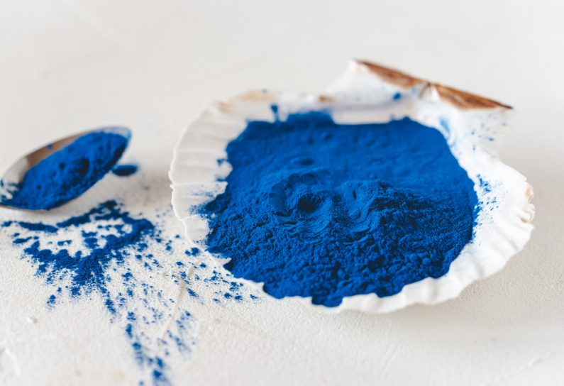 Blue spirulina powder 795x544 - Home-front-page