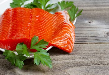 Fresh Fillet of Sockeye Salmon with parsley - by Doug Cook RD