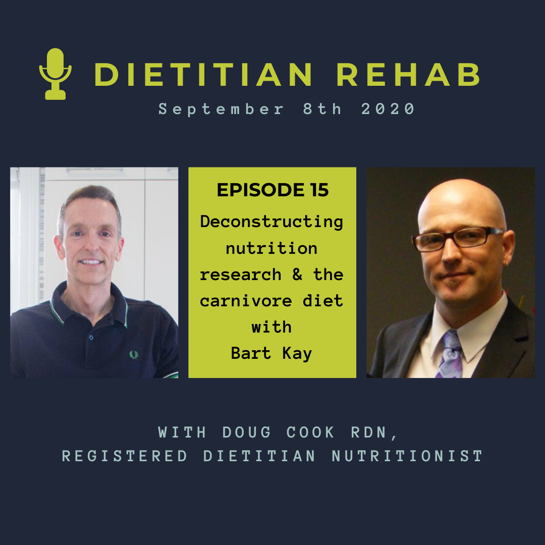 Nutrition research and carnivore diet with Bart Kay - By Doug Cook RD
